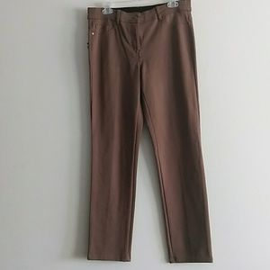 Style & Co Sz 10 Brown Stretch Pant